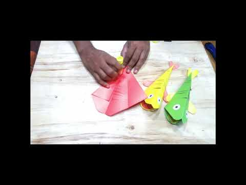 WOW 😊 It's Very Easy DIY paper crafts for kids | Beautiful Paper Fish 🐠
