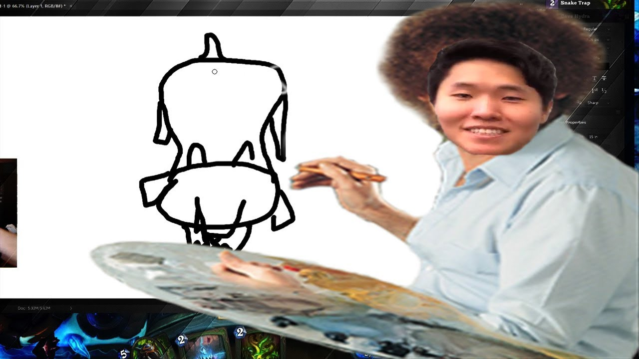 Drawing Hearthstone Cards in Photoshop   THE WITCHWOOD   HEARTHSTONE   DISGUISED TOAST
