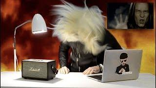 Роза Робот смотрит клипы российских рок звёзд