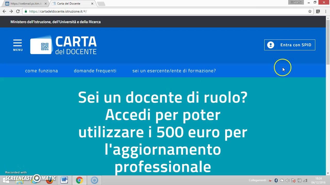 0aa261580f Carta del docente: come utilizzare il bonus di 500 euro-in 3 minuti -  YouTube