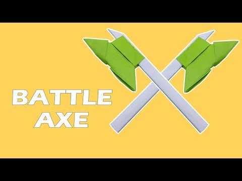 How to Make a Viking Style Paper Battle Axe Kids Paper Toys Easy Tutorials | DIY Paper Crafts