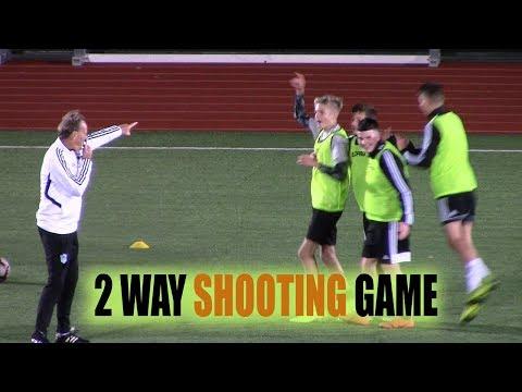 SoccerCoachTV - Fun 2 Way Shooting Game.  
