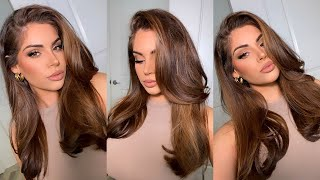Get Ready With Me: My BLOWOUT Routine + Soft Glam Makeup♡ screenshot 5
