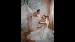 Процесс рисования картины по номерам. Балерины.(Заказать эту картину можно здесь: http://ali.pub/jra1l., 2016-01-04T20:41:24.000Z)