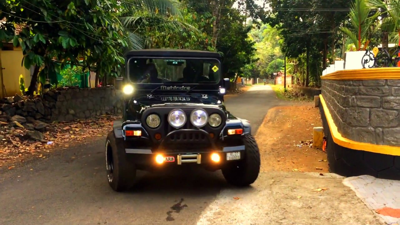 Mahindra thar modified in kerala - YouTube