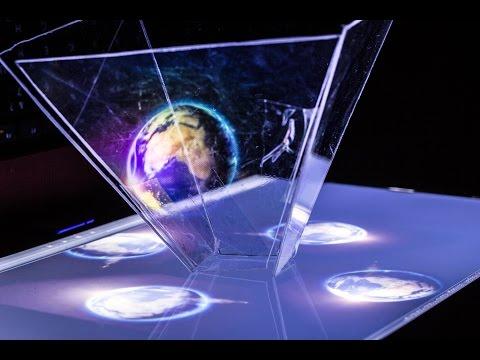 Как сделать 3D голограмму в домашних условиях   How to make a 3D hologram at home