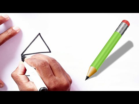 How To Draw House Very Simple Idia : Step by Step