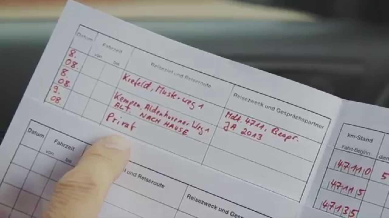 wie sie ihr fahrtenbuch richtig ausfllen und steuern sparen steuertipp dr dreist nicklaus youtube - Fahrtenbuch Muster