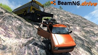 BeamNG.drive - PUSHED OFF THE CLIFF