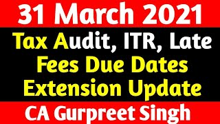 Good news in Income Tax Audit & ITR Due Date Extension update 2019-20, 2020-21