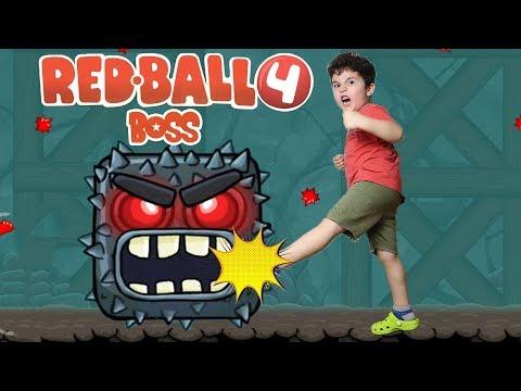 Red Ball 4 Bitti | Karanlık Mağaralar Boss'u Yendik(68-75)