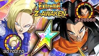 100% INT ANDROID 18 EZA & STR ANDROID 17 EZA SHOWCASE! Dragon Ball Z Dokkan Battle