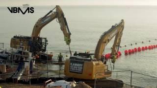 Galloper offshore wind farm   export cable shore landing *trailer