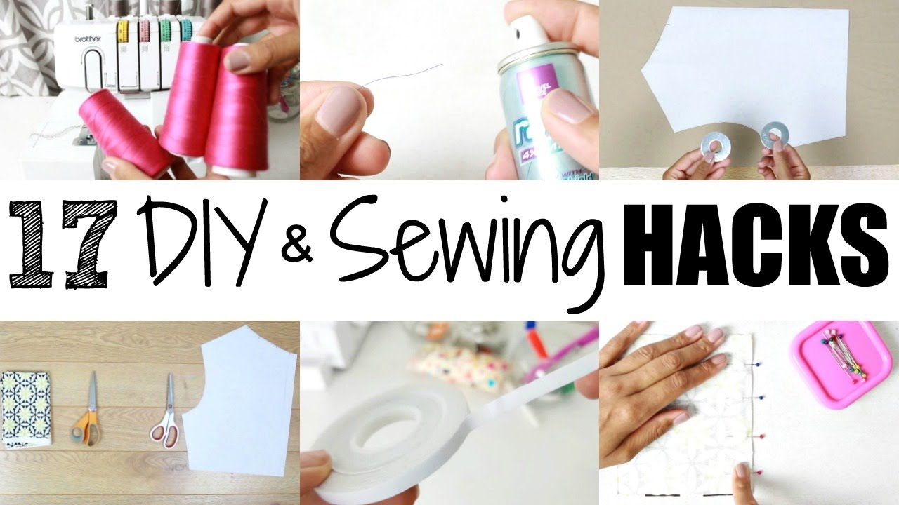 17 DIY & Sewing Hacks + Tips - YouTube