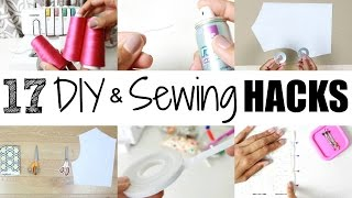 17 DIY  Sewing Hacks  Tips