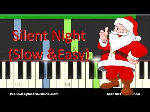 How To Play Silent Night - Easy Piano Tutorial
