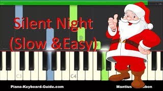 How To Play SiĮent Night - Easy Piano Tutorial