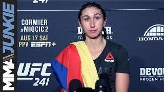 UFC 241: Sabina Mazo full post-fight interview