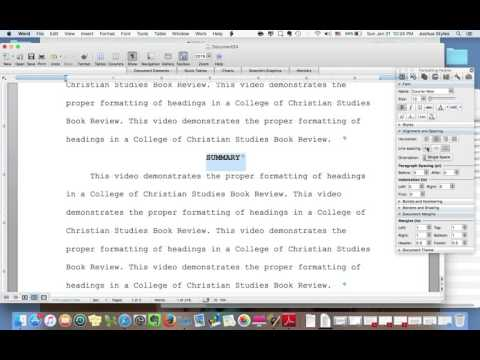 CHST Book Review Formatting