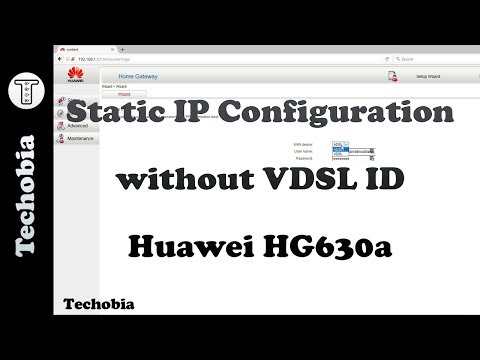 Static IP configuration without VDSL ID | Huawei HG630a | Airtel