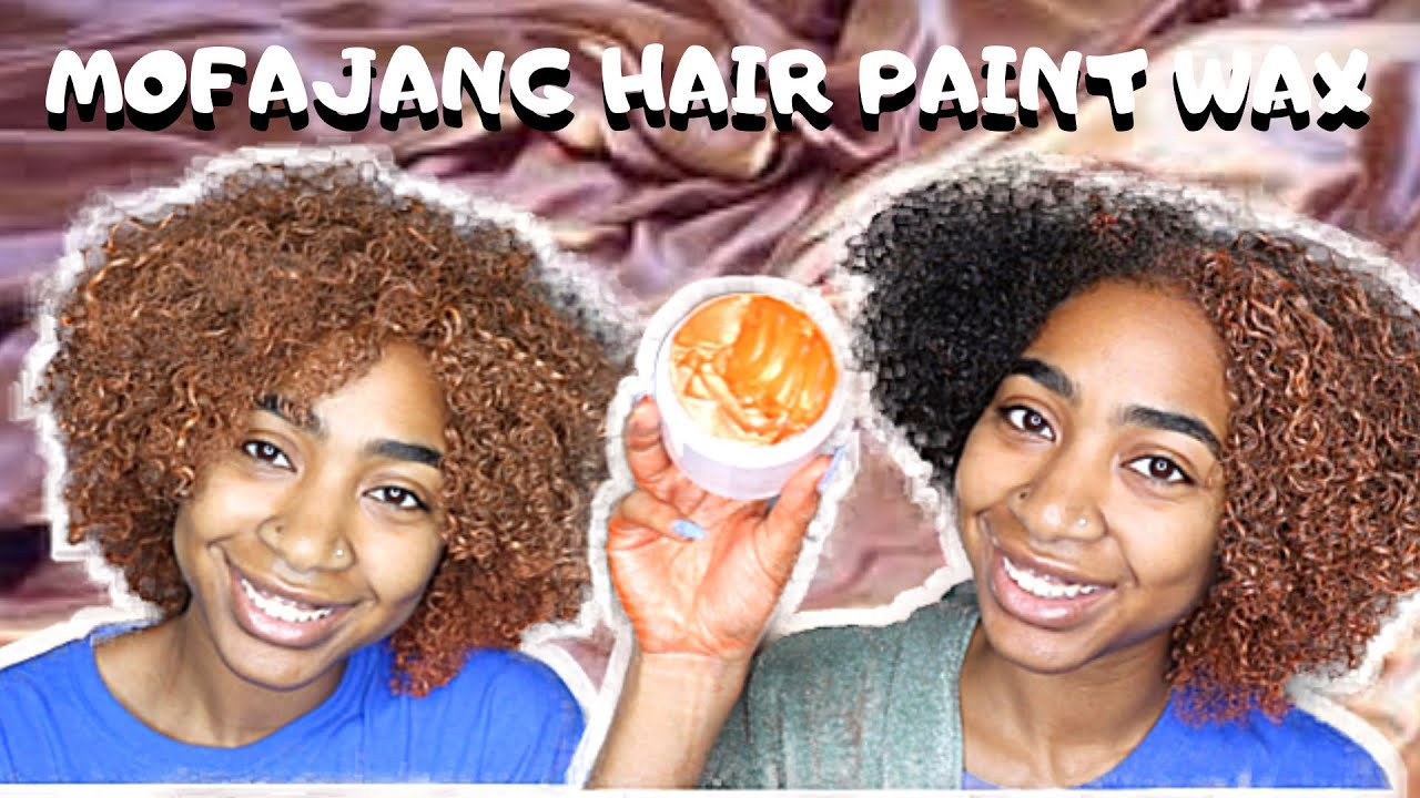 WATCH ME COLOR MY HAIR ORANGE NO BLEACH\/DYE  MOFAJANG HAIR PAINT WAX  YouTube
