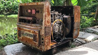 Restoration Generator Silent SHINDAIWA  | Restore Gasoline Engine Old