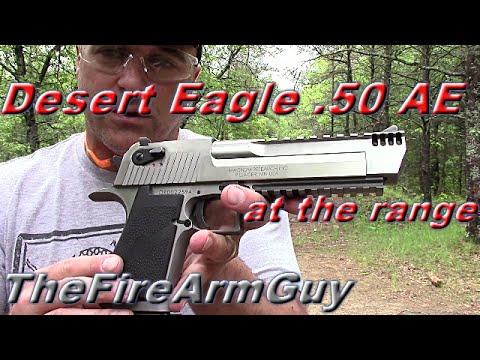 Desert Eagle .50 AE at the Range - Best Handgun for Power - TheFireArmGuy