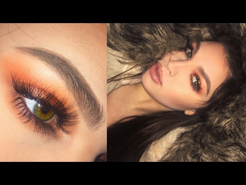 Burnt Orange Makeup Tutorial | MORPHE 35o palette + MAC Tan Pigment