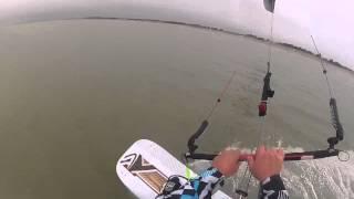 Kitesurf Lightwind au Crotoy en Flysurfer Speed3 19 dlx