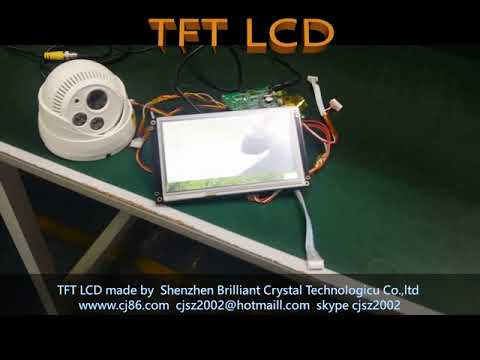 Industrial HMI tft lcd module display support camera function