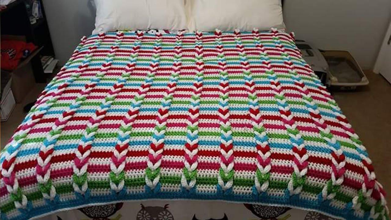 Colchas para camas tejidos a crochet n 07 youtube - Colchas tejidas a crochet ...