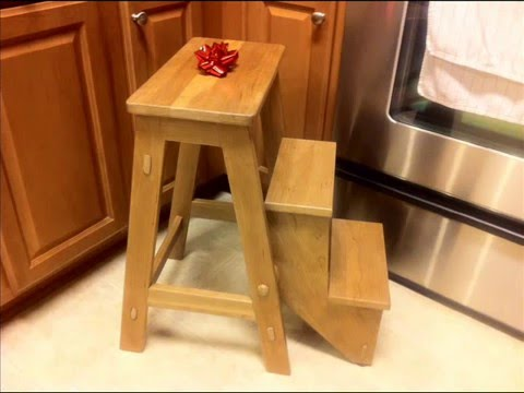 Folding step stool see description for plans youtube for Diy kitchen remodel steps
