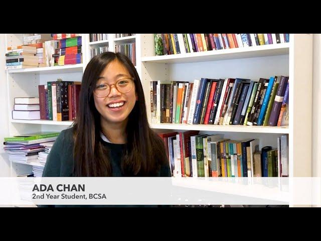Studying at BCSA  I  Ada Chan