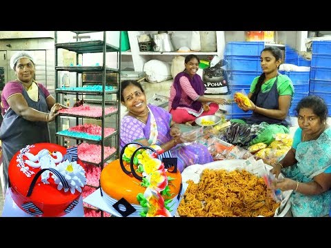 WOW Amazing Cake's Processing | How It's Made Inside Bakery | Indian Street Food | #Streetfood