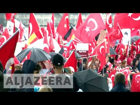 Germany's Turkish Community holds huge rally in Cologne in support of Erdogan