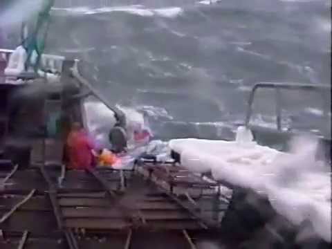 Bering Sea opilio crabbing from the early 90s brought to life from VHS tape in 2015