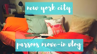 NEW YORK CITY COLLEGE MOVE IN VLOG | Rhianon Paige