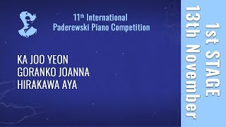 13th November - 1st stage / Part 4 - Paderewski Piano Competition