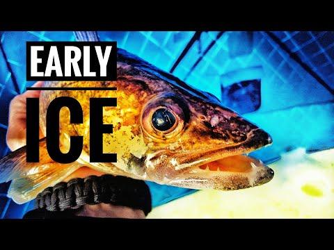 Ice Fishing Upper RED Lake Walleyes [2017]