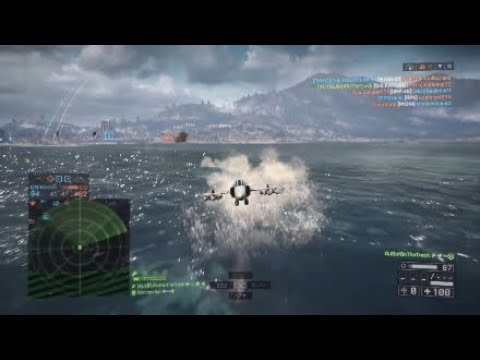 {BF4 PS4} Attack Jet Gameplay 60-0 | Q5 Fantan