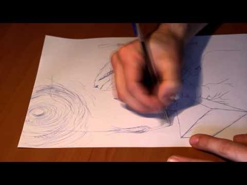 "Pen On Paper Drawing (time Lapse) ""A Caixa Prt.3"" - Sílvio Vieira"