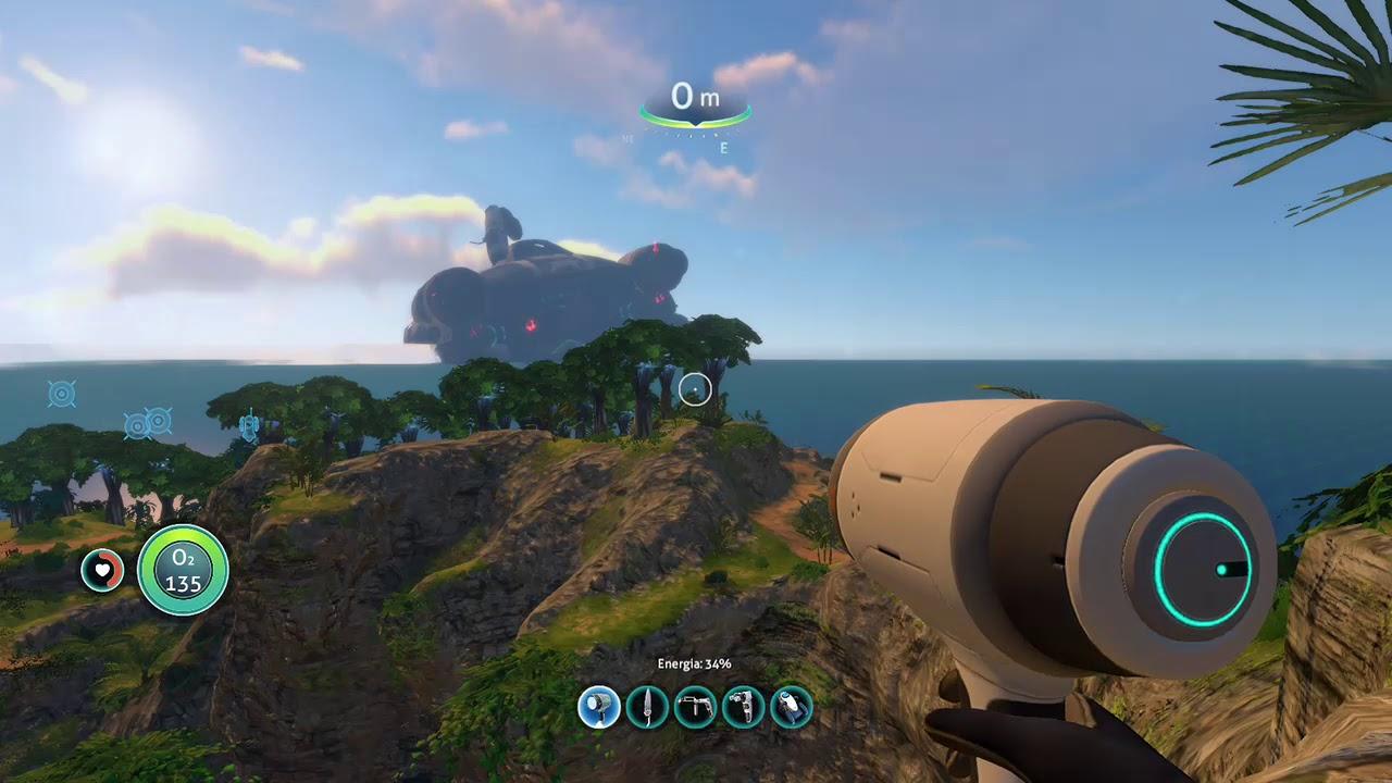 Subnautica : ACTIVATING PORTAL at Cannon Island