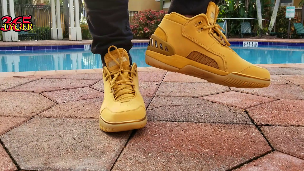 efc1378d4334 Air nike  LEBRON  First GENERATION Retro Wheat  on Foot review - YouTube