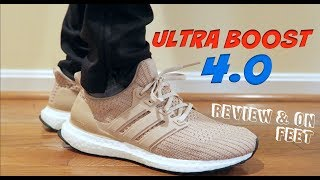 """(ANY DIFFERENCES ??) ADIDAS """"ULTRA BOOST"""" 4.0 W REVIEW & ON FEET W/ WIFE"""