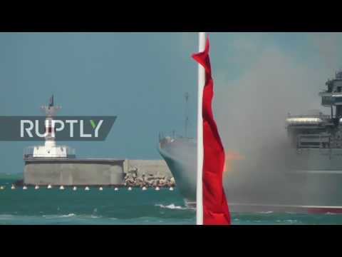 Russia: Black Sea Fleet flaunts its firepower at Navy Day parade