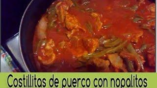 -costillas De Puerco Con Nopalitos En Salsa De Chile Guajillo | Receta | ♥