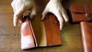 Обзор кожаных кошельков ручной работы.