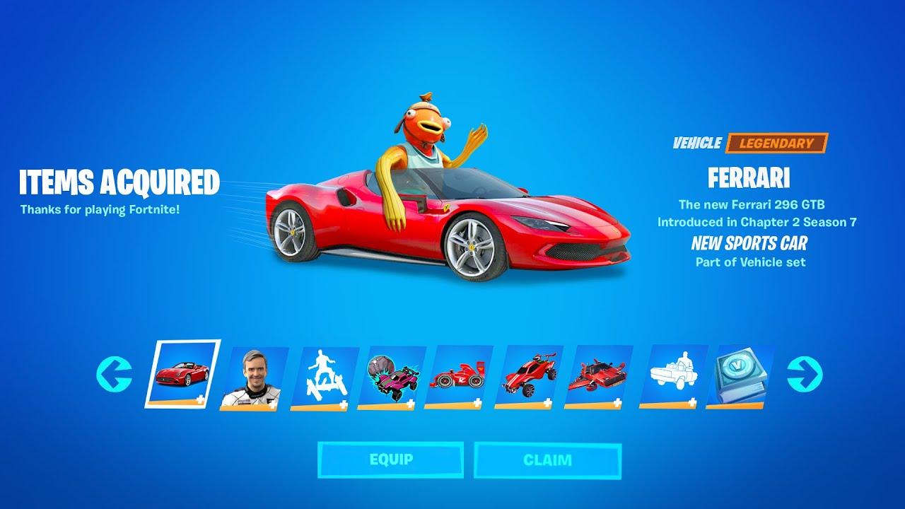 Fortnite Ferrari Reward