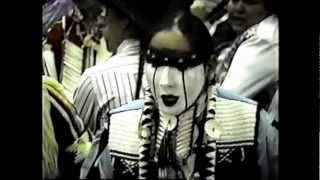 """Happy Birthday To You"" drum song Stewart Indian School Native American Indian Pow wow 1996"