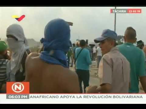 Reporte de VTV sobre disturbios en puente Simón Bolívar, 23 febrero 2019